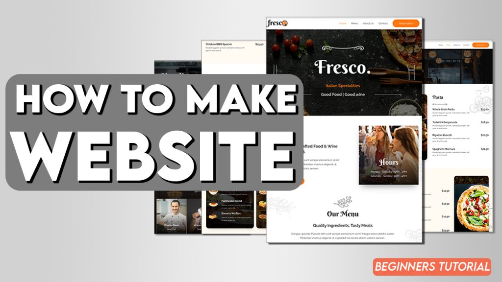 how to make a webiste