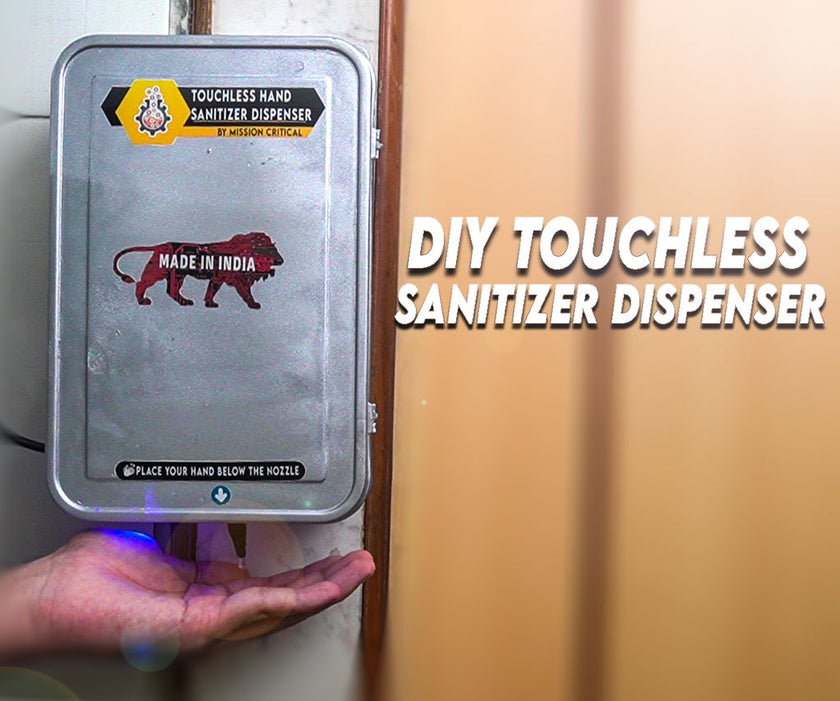 diy touchless hand sanitizer dispenser